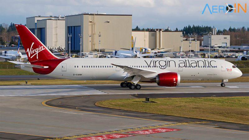 Avião Boeing 787 Virgin Atlantic