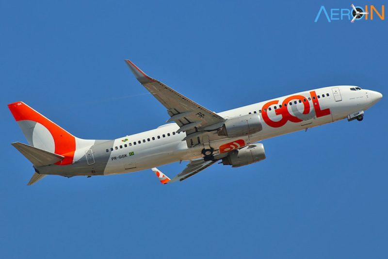 Avião Boeing 737-800 Gol Flamengo Libertadores