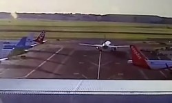 Vídeo KLM easyJet batida crash Amsterdam