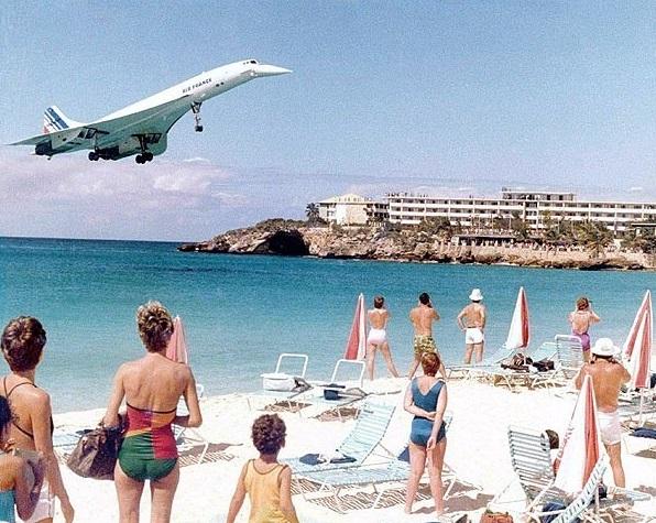 Avão Concorde Praia St. Maarten