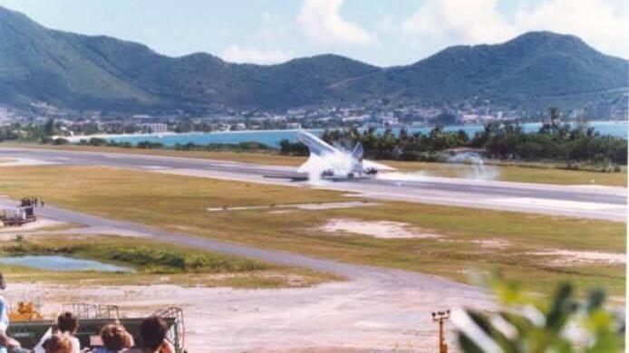 Avão Concorde Aeroporto St. Marteen