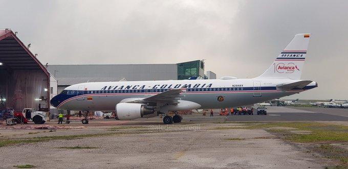 Airbus A320 Avianca Colômbia Retrô