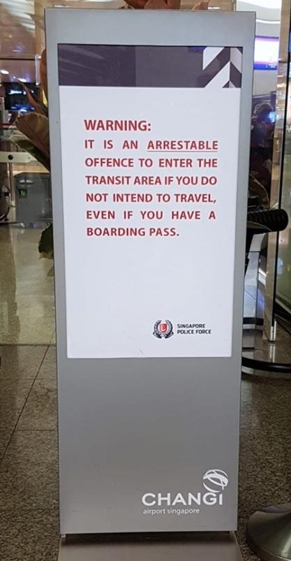 Changi Airport Warning
