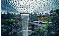 Aeroporto Changi Jewel Queda D'água Árvores 01