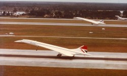 Concorde Pouso Simultâneo Orlando Air France British