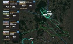 Radar FlightRadar24 Drone Aeroporto Budapeste