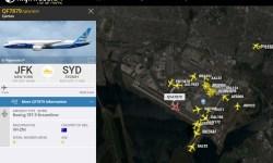 Radar Voo QFA7879 Qantas Nova York Sydney
