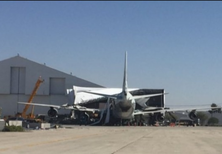 747 Ex VARIG Filme Tenet Acidente
