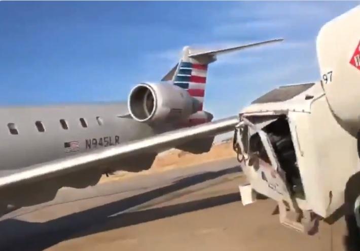 Acidente avião CRJ-900 caminhão combustível Dallas