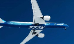 Imagens Air to Air 777X First Flight