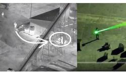 Apreensão Homem Laser Polícia Helicóptero Vídeo