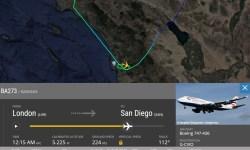 FlightRadar24 747 British Problema Flap 200123