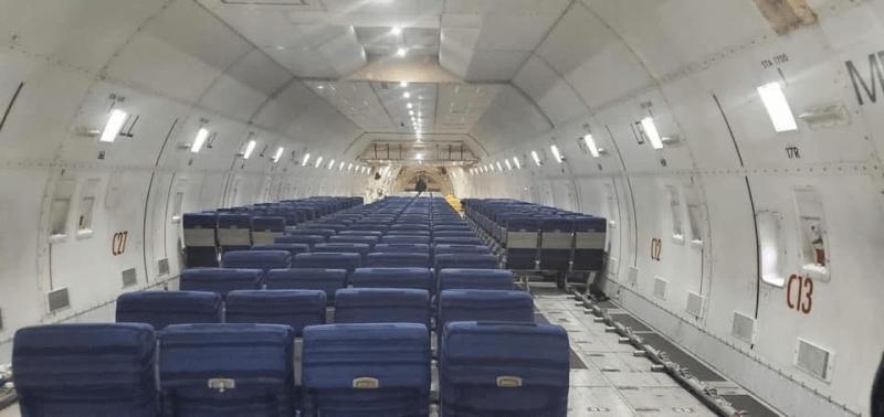 Kalitta 747-400BCF Assentos evacuação Wuhan
