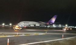 Primeiro Pouso A380 Istambul Emergência Thai