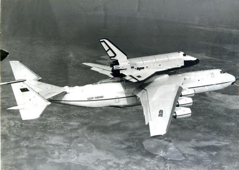 Avião Antonov An-225 Ônibus Espacial Buran