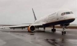 Avião Boeing 757 Icelandair Trem de Pouso Quebrado