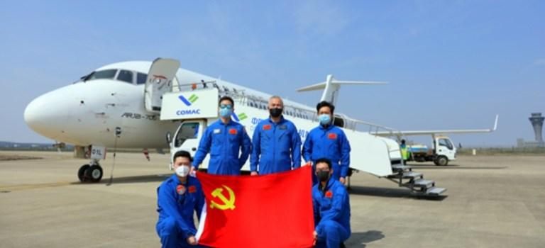 Avião COMAC ARJ21 Primeiro Segunda Linha Montagem