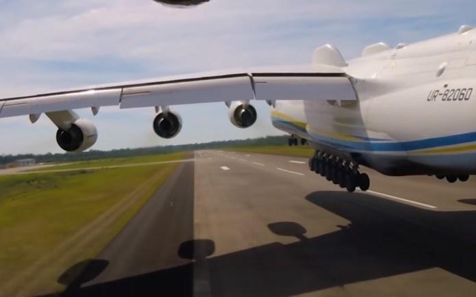 Antonov AN-225 voo câmera externa