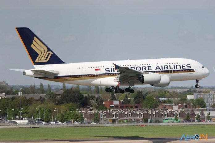 Avião Airbus A380 Singapore Airlines