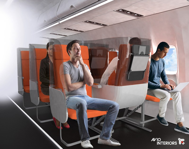 Isolamento social em aviões - Alternativa de nova disposição dA poltronas
