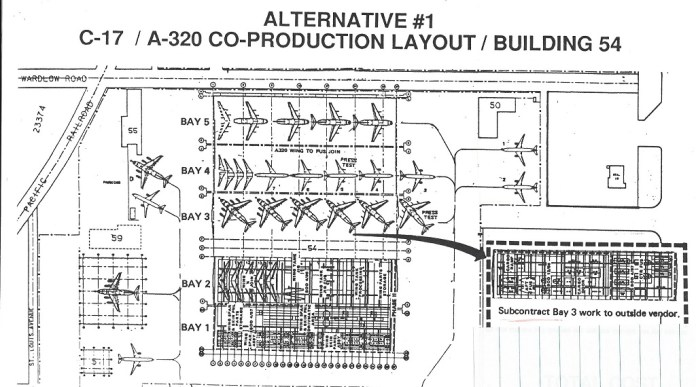 McDonnell Douglas layout