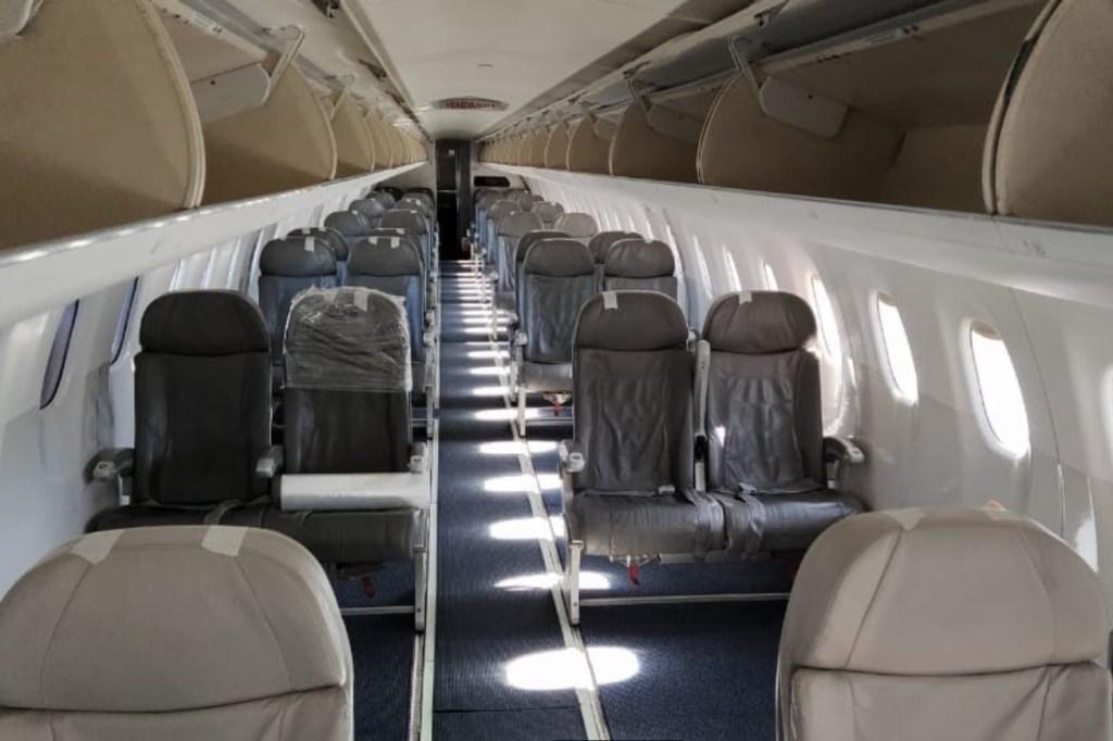 Blue Cargo Interior Airplane E195 Freighter