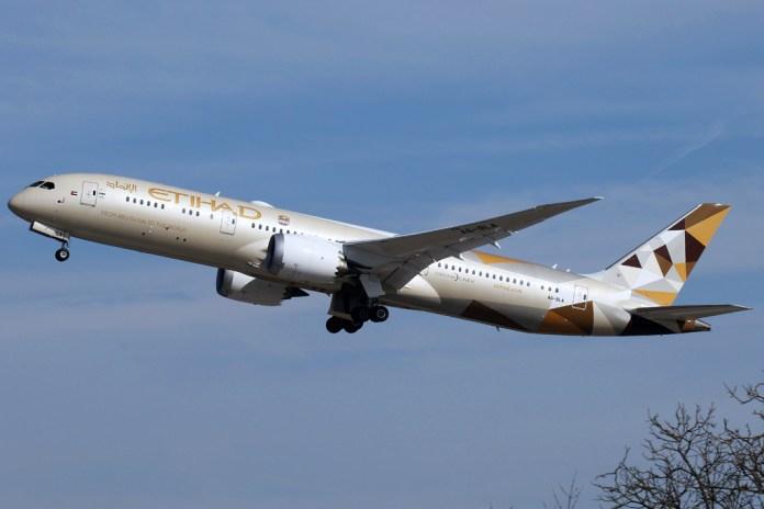 Avião Boeing 787-9 Dreamliner Etihad Airways