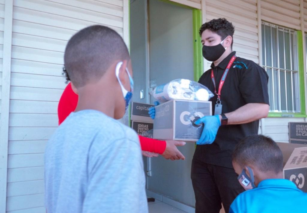 GRU Airport Aeroporto Guarulhos Ação Social Famílias Pandemia