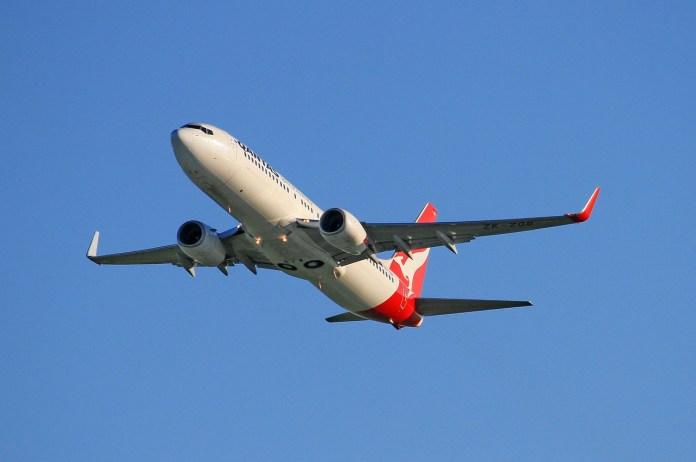 Avião Boeing 737-800 Qantas