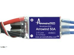 Arrowind 50A ESC (Switch BEC)