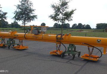 Vacuum handling device of the rental assortment of Aerolift to lift long plates