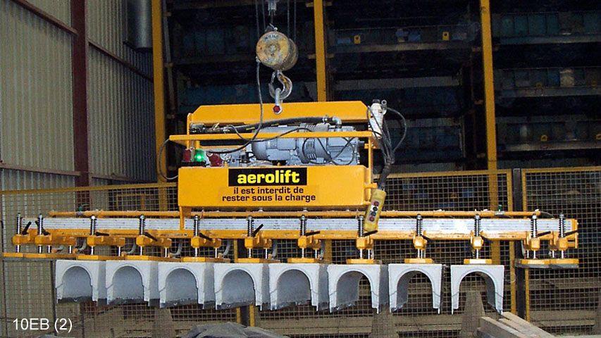 Dit vacuüm heftoestel van Aerolift kan 12 gootelementen in één keer handlen