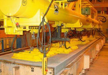 Vacuüm heftoestel van Aerolift voor het ontkisten van betonelementen