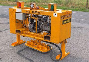 Klein diesel aangedreven vacuüm heftoestel met een hefcapaciteit van 4.000kg.