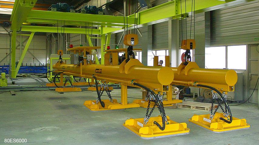 Vacuüm heftoestel van Aerolift voor het handlen van delen van vliegtuigvleugels in de vliegtuigindustrie