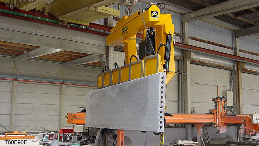 A vacuum lifter engineered for the American market meant to demould and lift wall elements