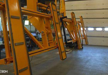 Aerolift vacuüm heftoestel voor het ontkisten en 90 graden kantelen van wandpanelen