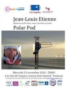 Conférence Polar Pod Expédition @ Cité de l'Espace | Toulouse | Languedoc-Roussillon Midi-Pyrénées | France