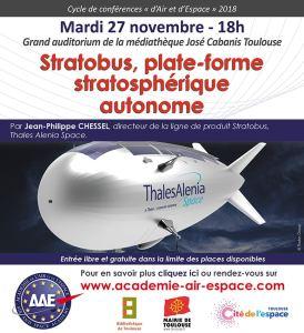 Stratobus, plate-forme stratosphérique autonome par Jean-Philippe Chessel @ Grand auditorium de la Médiathèque José Cabanis - Toulouse | Toulouse | Occitanie | France