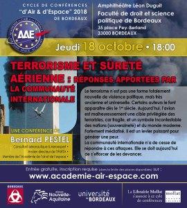 Terrorisme et sûreté aérienne : réponses apportées par la communauté internationale par Bernard Pestel @ Amphithéâtre Léon Duguit - Faculté de droit et science politique - Bordeaux | Bordeaux | Nouvelle-Aquitaine | France