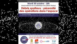 "Débris spatiaux : pérennité des opérations dans l'espace"" par Christophe Bonnal @ Grand auditorium de la Médiathèque José Cabanis 
