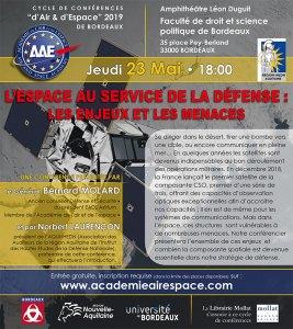 L'espace au service de la défense : les enjeux et les menaces @ Amphithéâtre Léon Duguit - Faculté de droit et science politique
