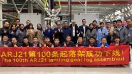 Liebherr LAMC Aviation célèbre la livraison de la 100e jambe de train d'atterrissage de l'ARJ 21
