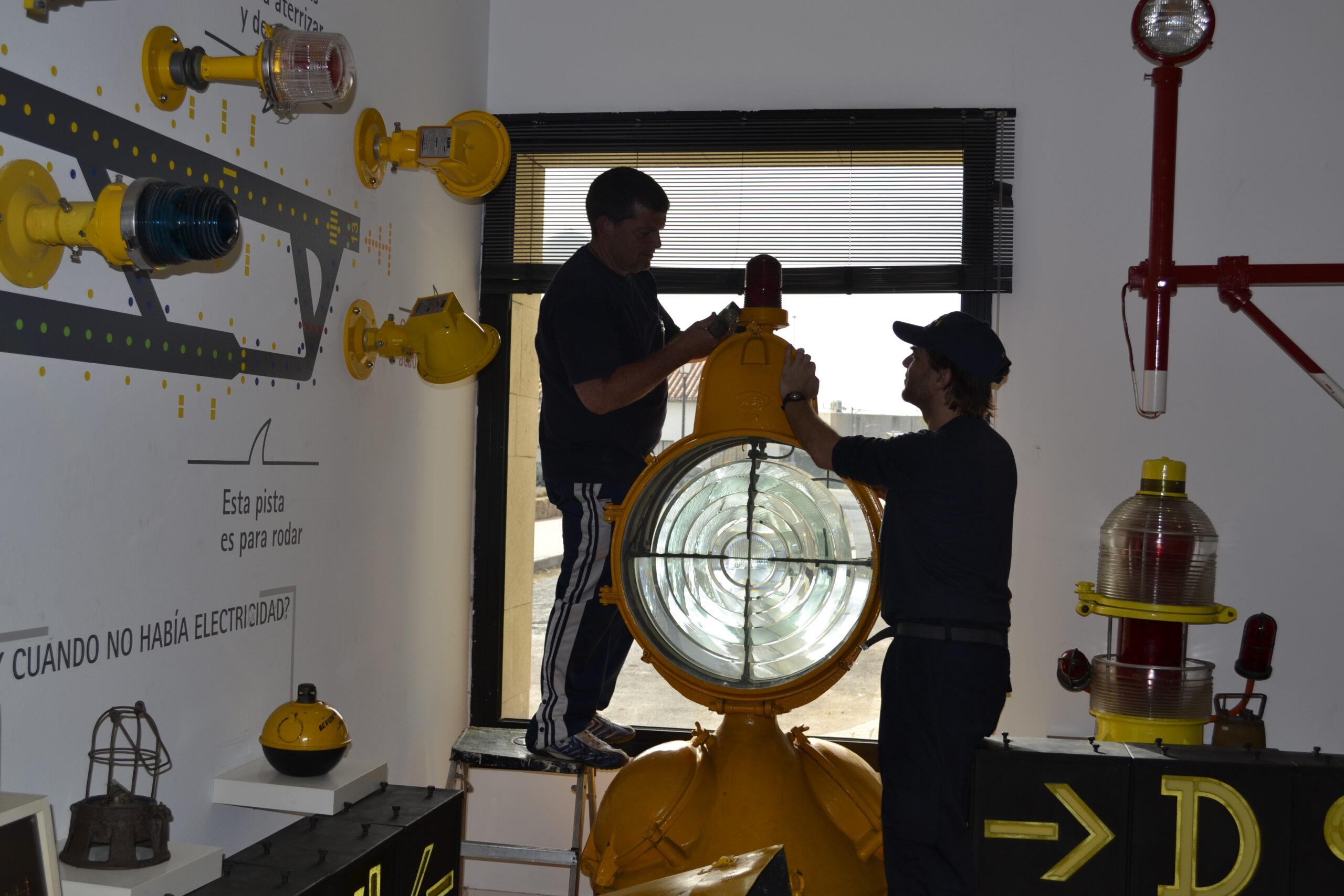 Recreación iluminación en Aerofaro histórico