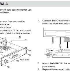 if you prefer the output to be a card edge connector such as the ic a200 and ic a210e to use an existing wiring then you must install the mba 3 adapter  [ 1195 x 676 Pixel ]