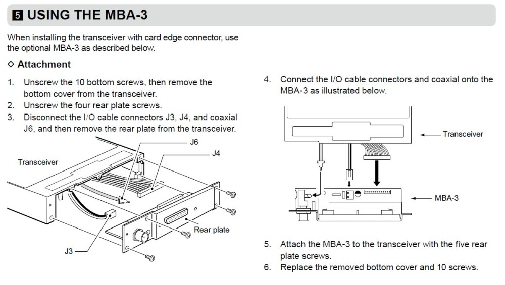 medium resolution of if you prefer the output to be a card edge connector such as the ic a200 and ic a210e to use an existing wiring then you must install the mba 3 adapter