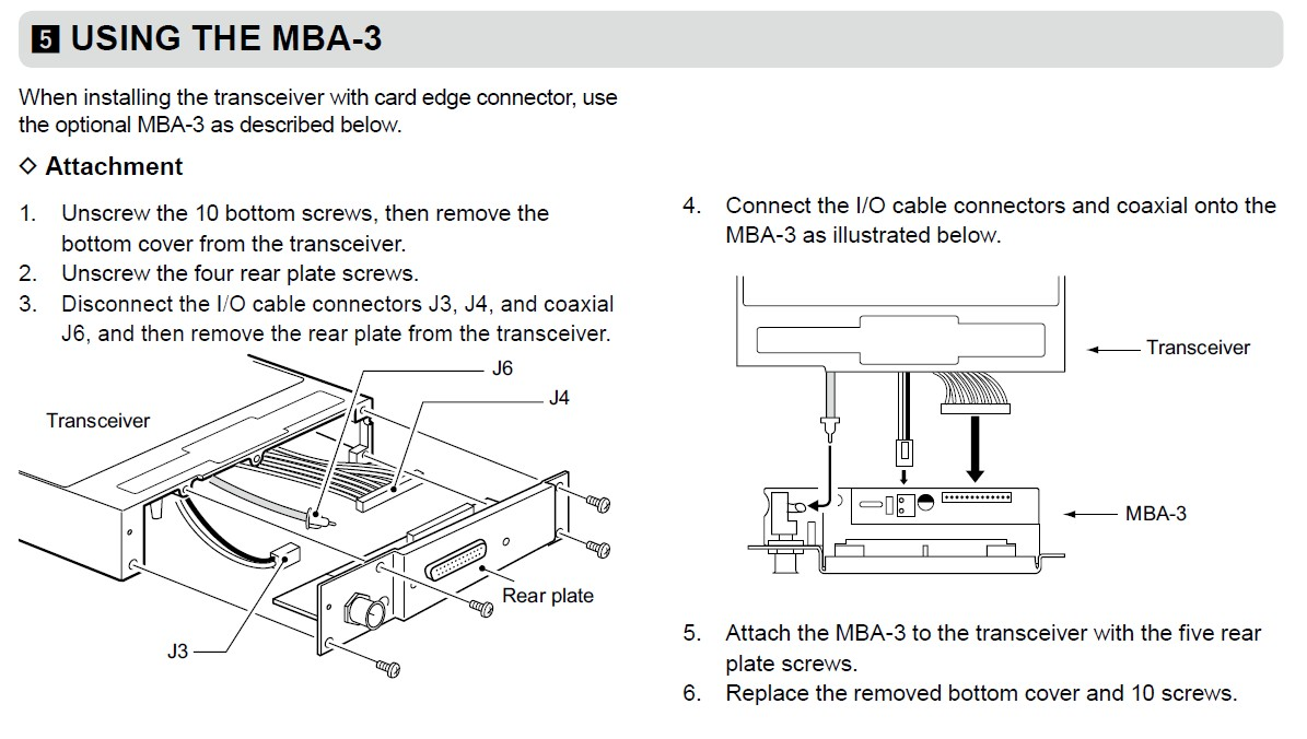 hight resolution of if you prefer the output to be a card edge connector such as the ic a200 and ic a210e to use an existing wiring then you must install the mba 3 adapter