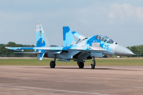 © Steve Buckle - Sukhoi Su-27UB Flanker • Ukrainian Air Force • Royal International Air Tattoo 2011