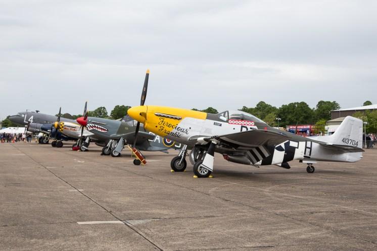 © Adam Duffield • Duxford Warbird Static lineup • Duxford VE Day 70th Anniversary Airshow