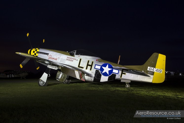 © Adam Duffield North American Aviation P-51D Mustang 'Janie' 414419/G-MSTG • Hardwick Warbirds Photography Event